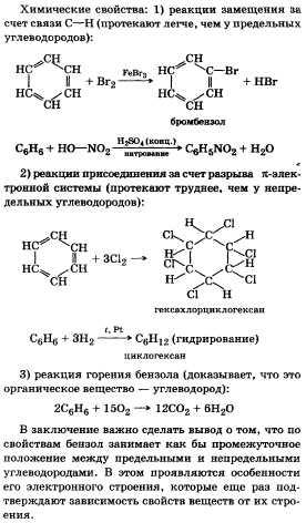 Ароматические углеводороды бензол