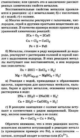Металлы их положение в периодической